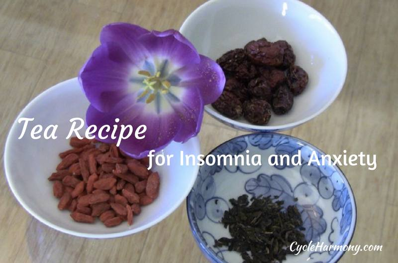 red dates and goji berries tea for insomnia and anxiety