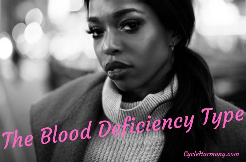the blood deficiency pms period type
