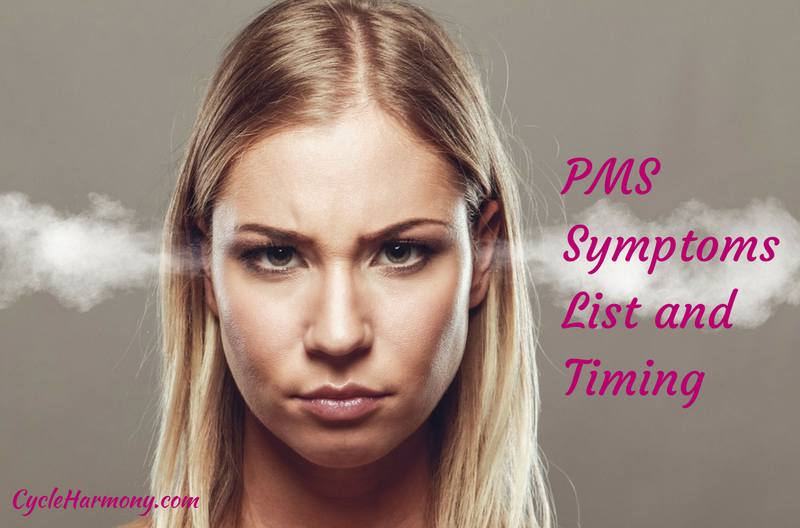 pms symptoms list and timing